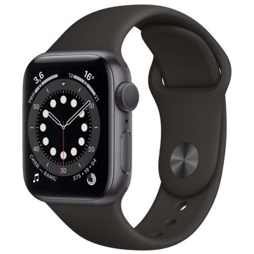 Часы Apple Watch Series 6 44mm Space Gray Aluminum Case with Black Sport Band