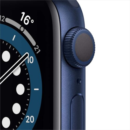 Часы Apple Watch Series 6 44mm Blue Aluminum Case with Deep Navy Sport Band