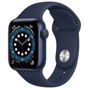 Часы Apple Watch S6 44mm Blue Aluminum Case with Deep Navy Sport Band