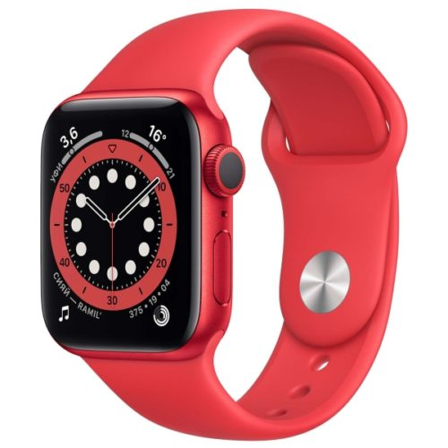 Часы Apple Watch Series 6 44mm PRODUCT(RED) Aluminum Case with PRODUCT(RED) Sport Band